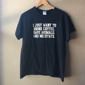 Gildan | Drink Coffee and Save Animals T-Shirt